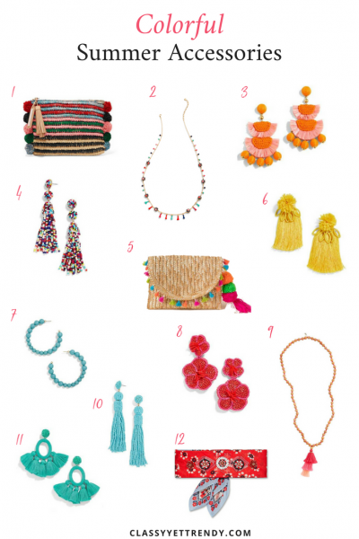 Colorful Summer Accessories