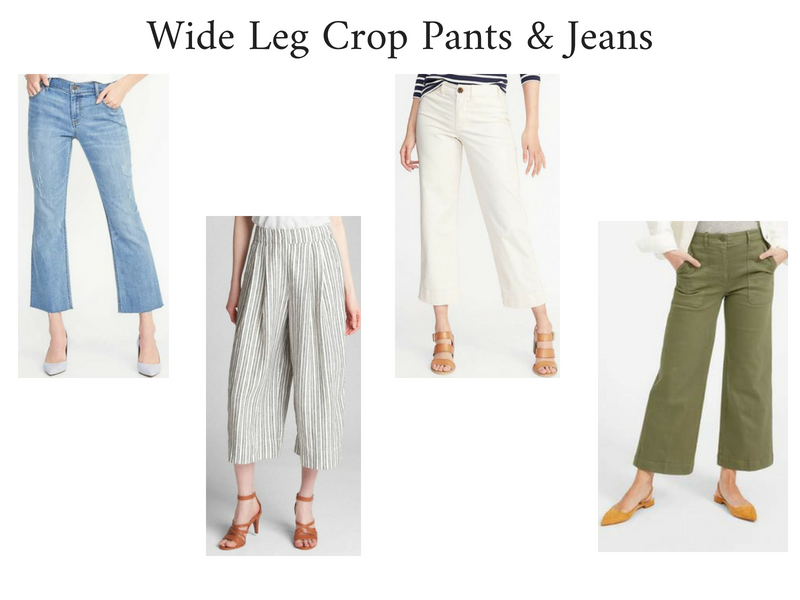 Summer 2018 Trends Report - Wide Leg Crop Pants and Jeans