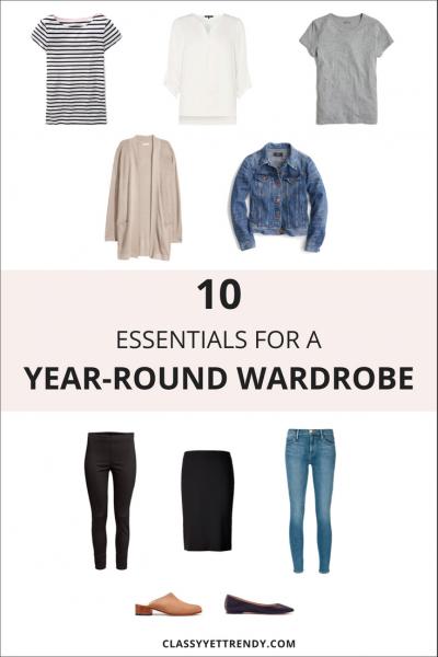 10 Essentials For A Year-Round Wardrobe