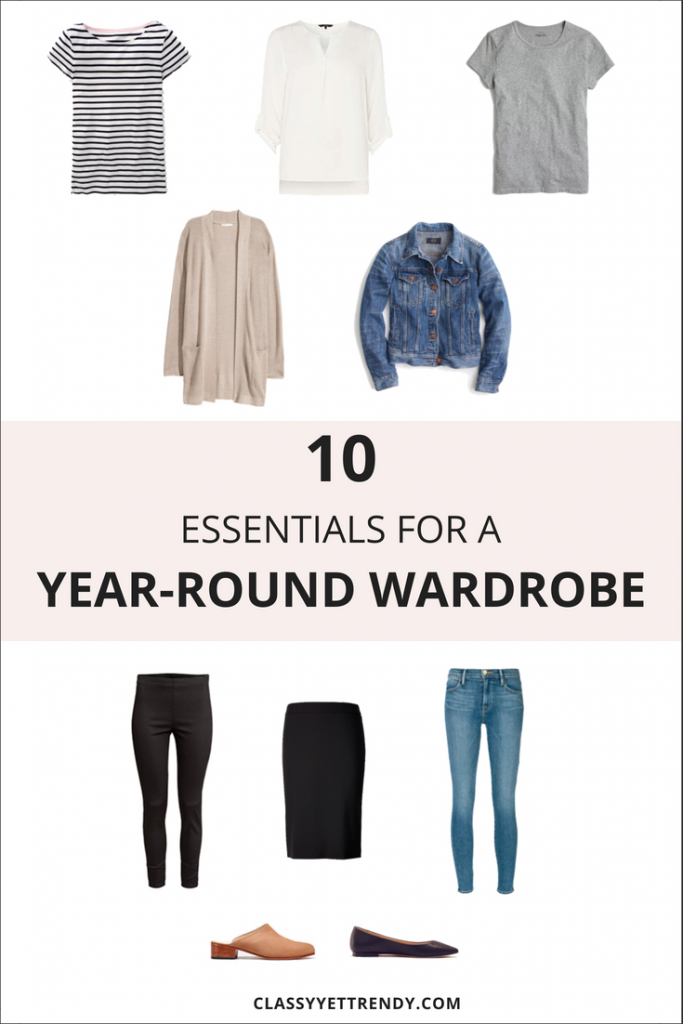 10 Essentials For A Year-Round Wardrobe