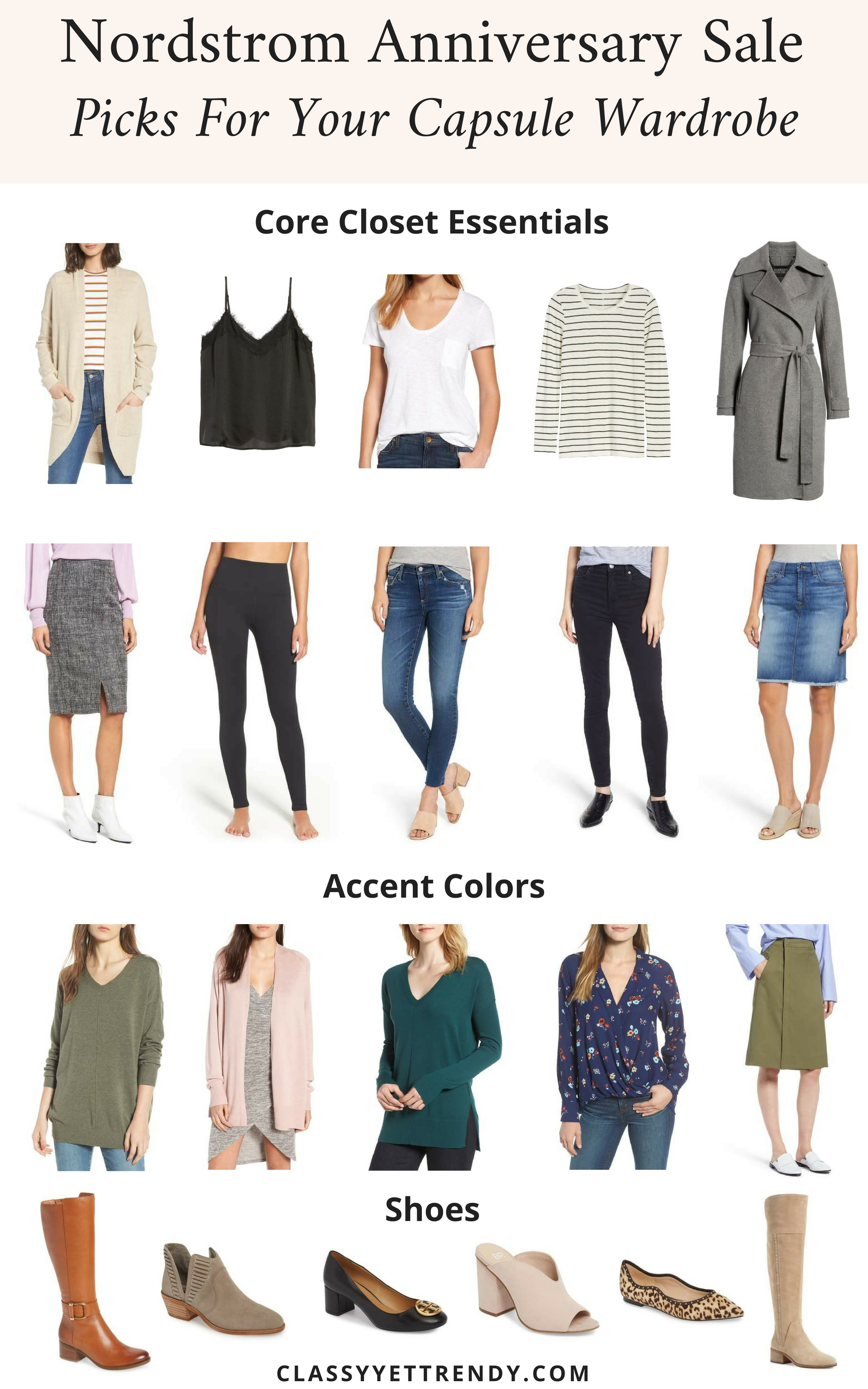 Nordstrom Anniversary Sale Picks For Your Capsule Wardrobe