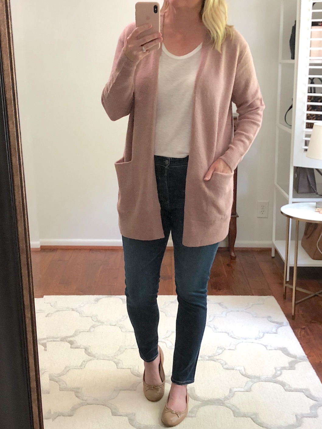 Nordstrom Anniversary Sale Try-On - Madewell Ryder Cardigan and AG Jeans