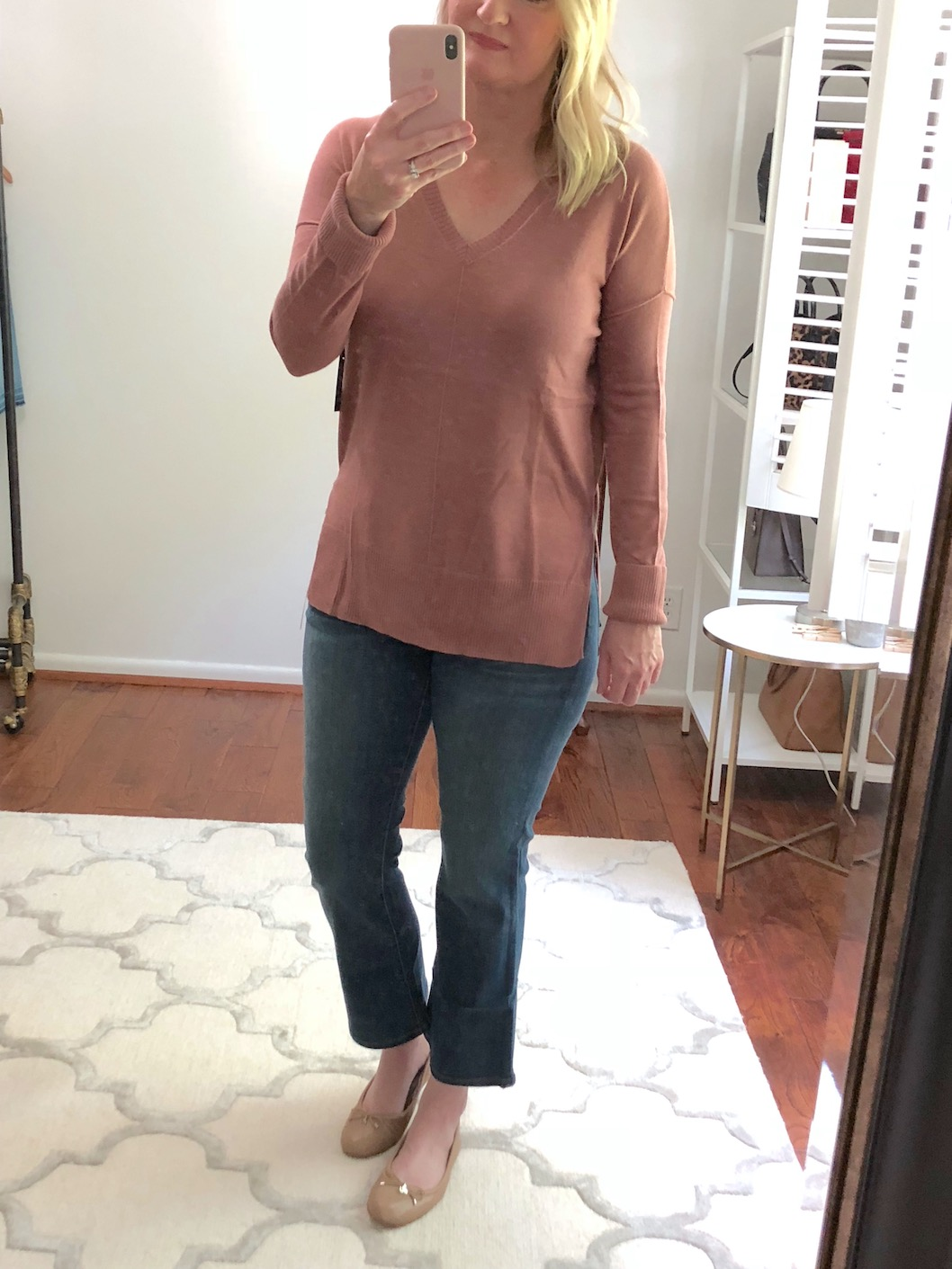 Nordstrom Anniversary Sale Try-On - Trouve Side Slit Sweater 5633bcf0f