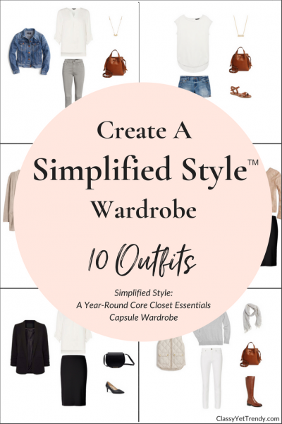 Simplified Style Capsule Wardrobe - 10 Outfits