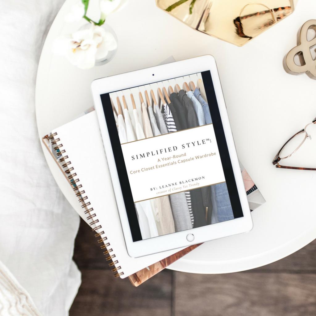 Simplified Style Capsule Wardrobe eBook mockup