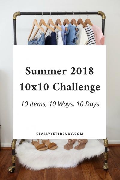 Summer 10x10 2018 Challenge