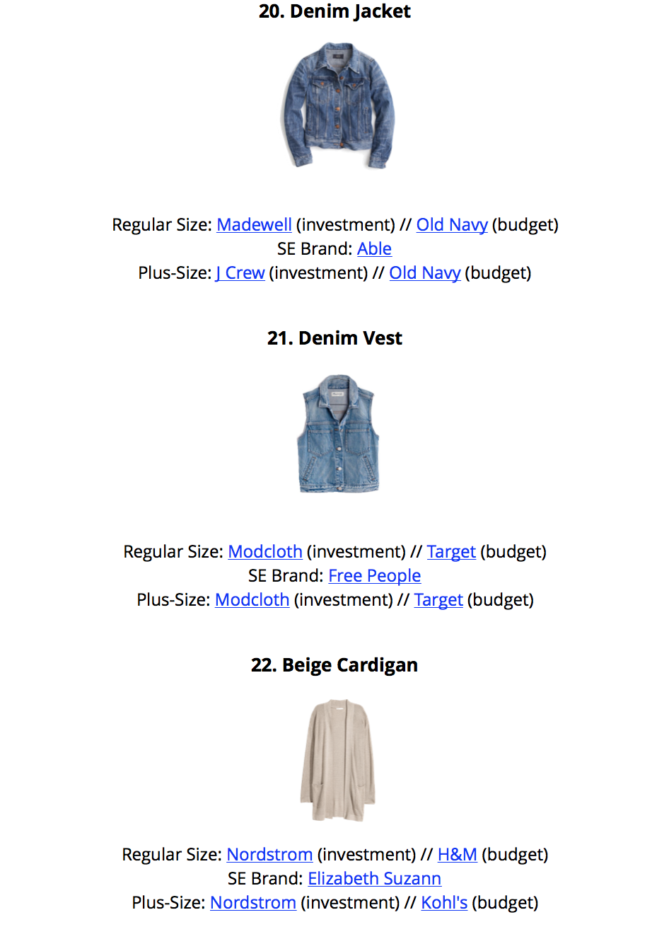 Simplified Style - A Year-Round Capsule Wardrobe - sample page 1