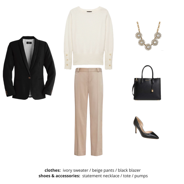 Workwear Fall 2018 Capsule Wardrobe - Outfit 82