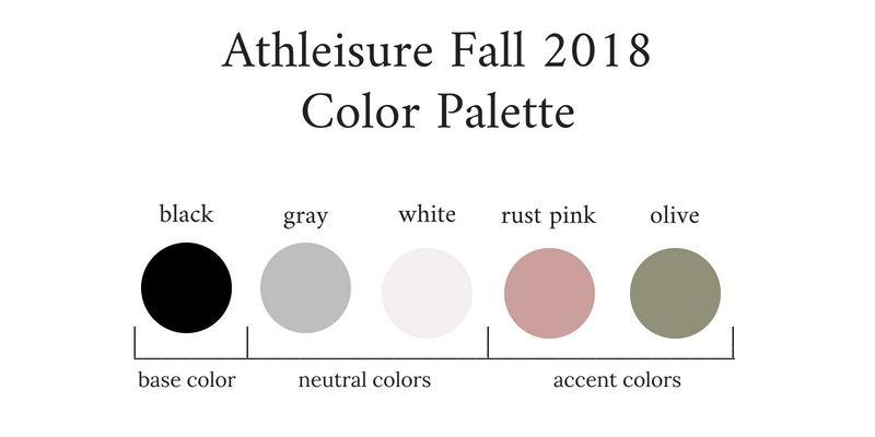 Athleisure Capsule Wardrobe Fall 2018 Color Palette
