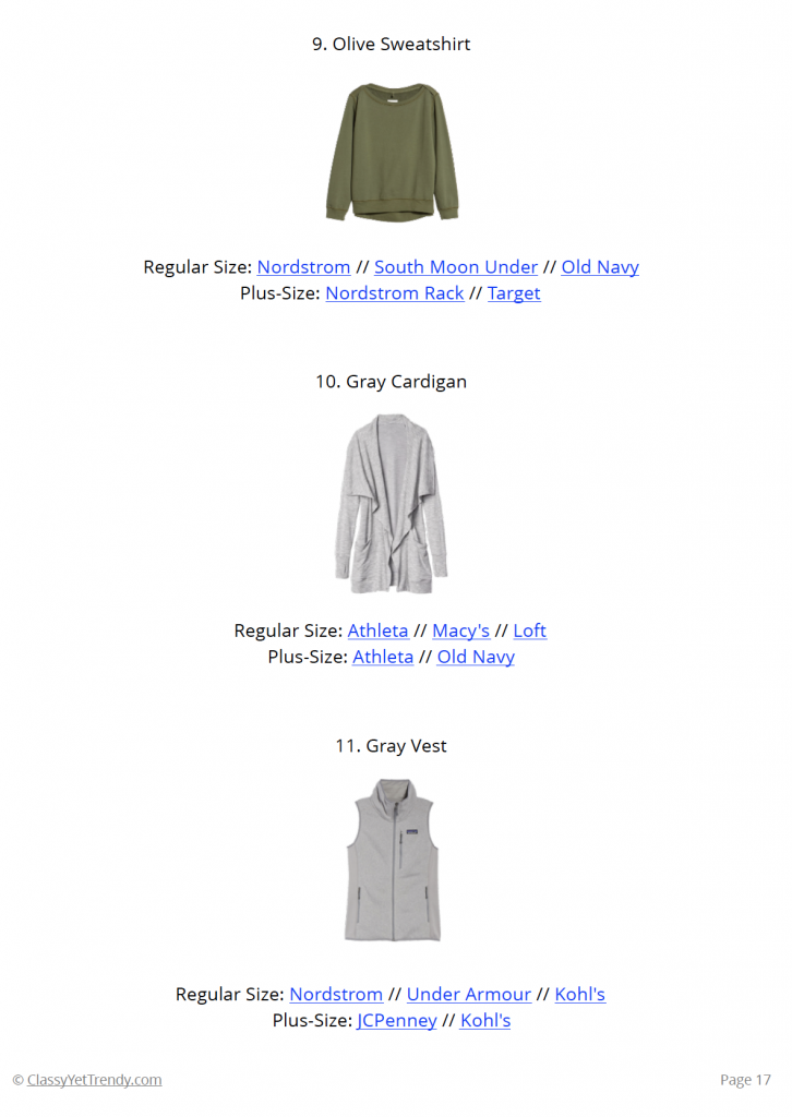 Athleisure Fall 2018 Capsule Wardrobe - page 17