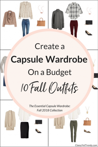 Essential Capsule Wardrobe 10 Fall 2018 Outfits