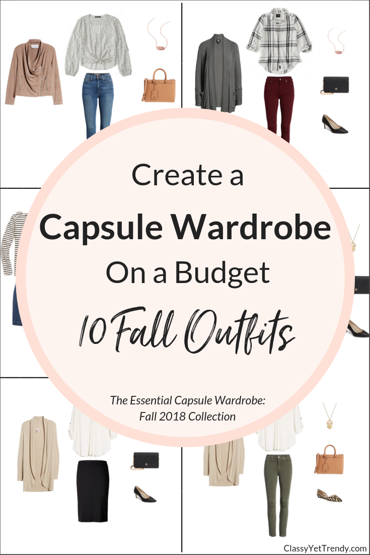 Essential Capsule Wardrobe 10 Fall 2018 Outfits - REVISED