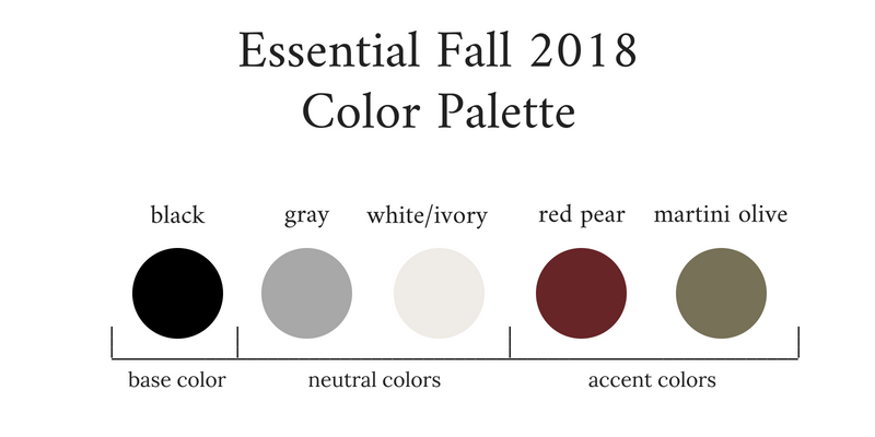 Essential Capsule Wardrobe Fall 2018 Color Palette