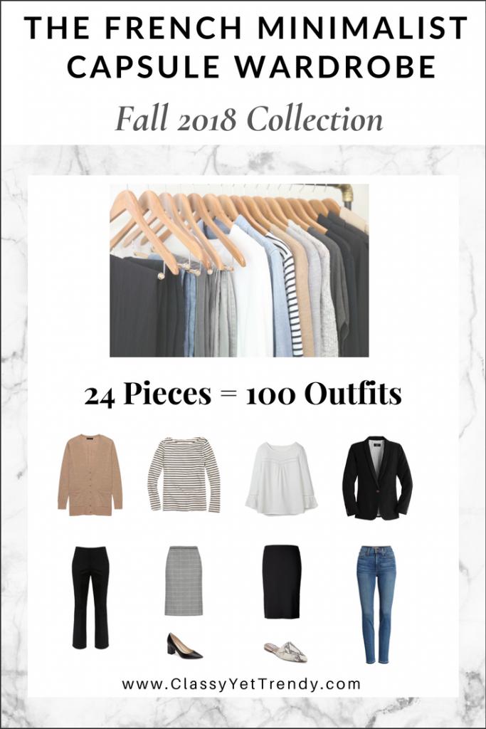 French Minimalist Capsule Wardrobe Fall 2018 eBook
