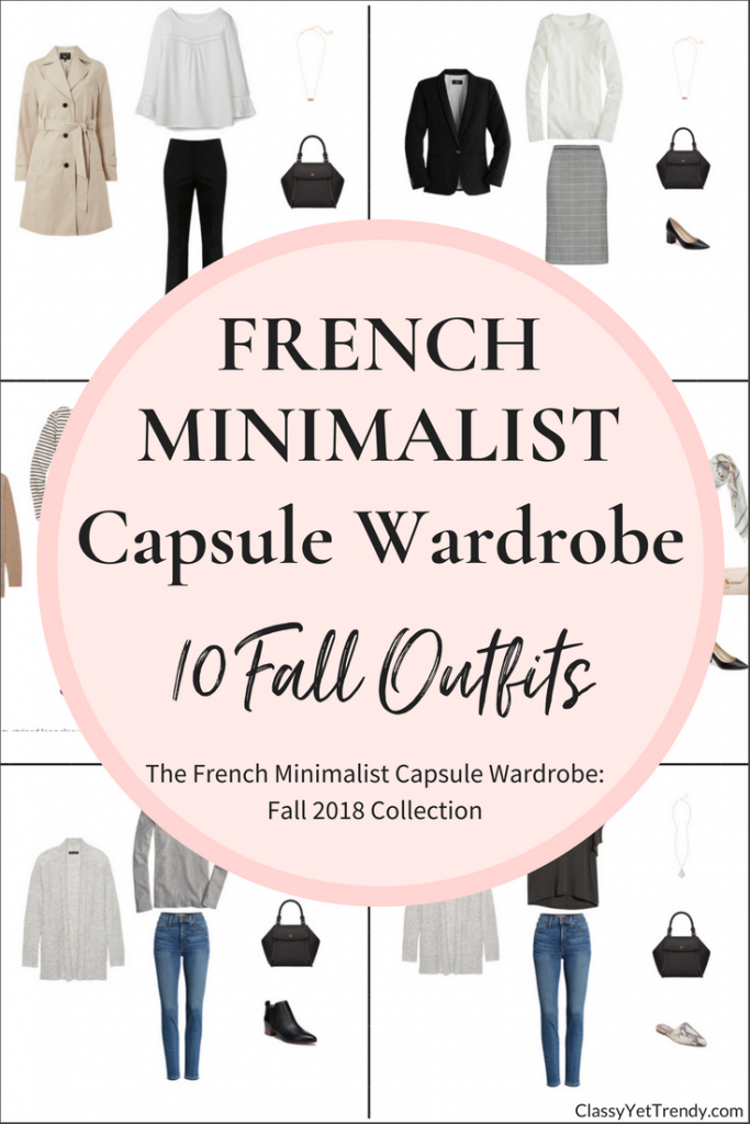 French Minimalist Capsule Wardrobe 10 Fall 2018 Outfits