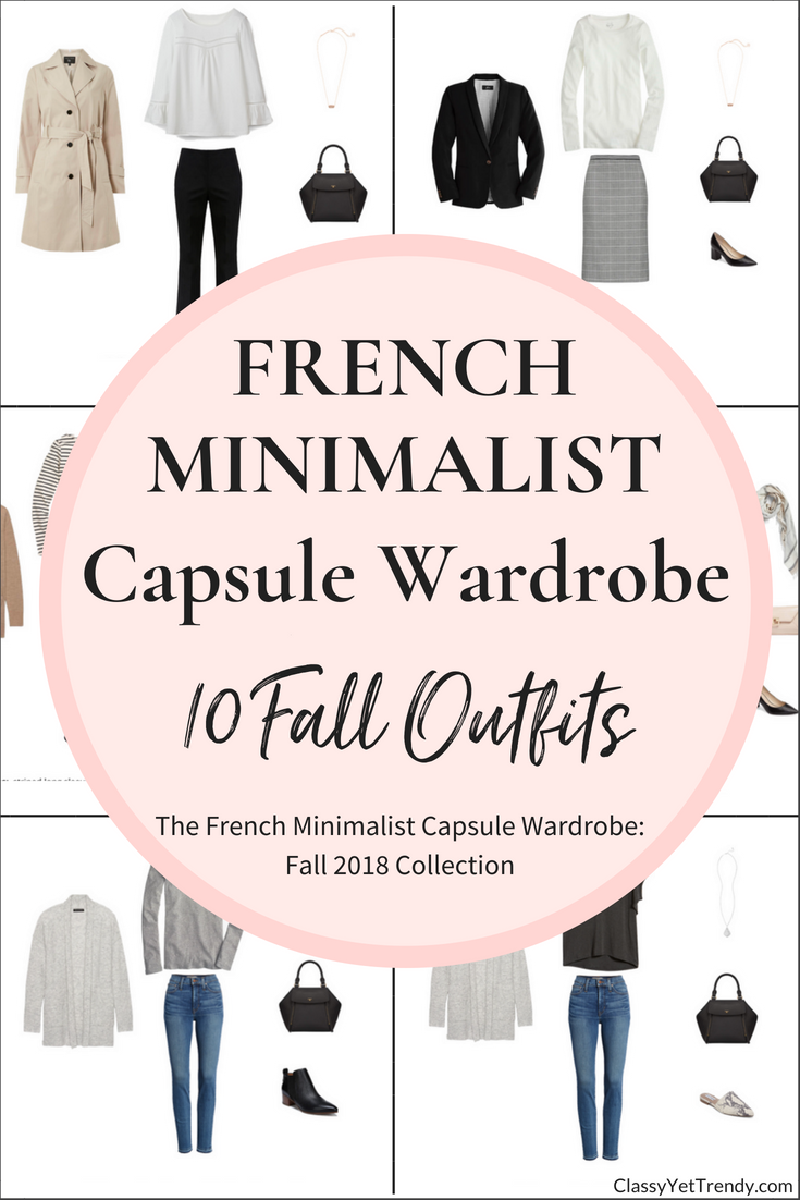 French Minimalist Capsule Wardrobe Fall 2018 eBook Preview: 10 Outfits