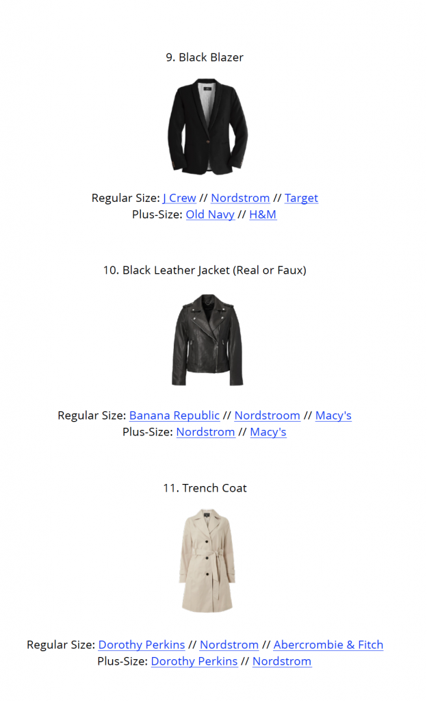French Minimalist Capsule Wardrobe Fall 2018 - page1 sample