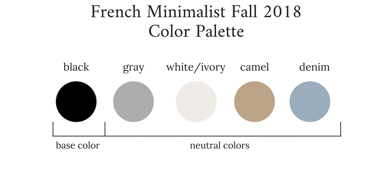 French Minimalist Fall 2018 Color Palette