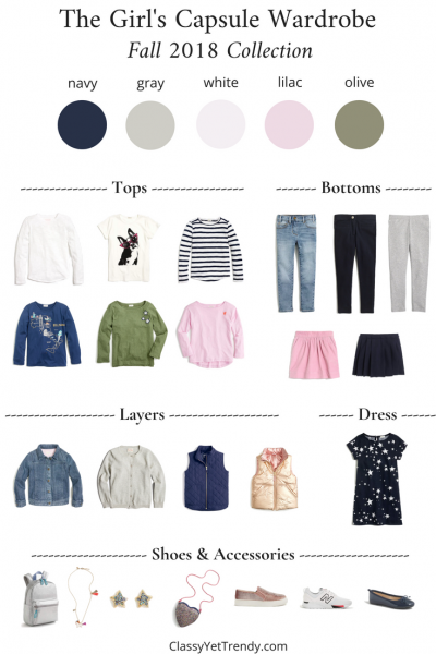 Girls Capsule Wardrobe - FALL 2018
