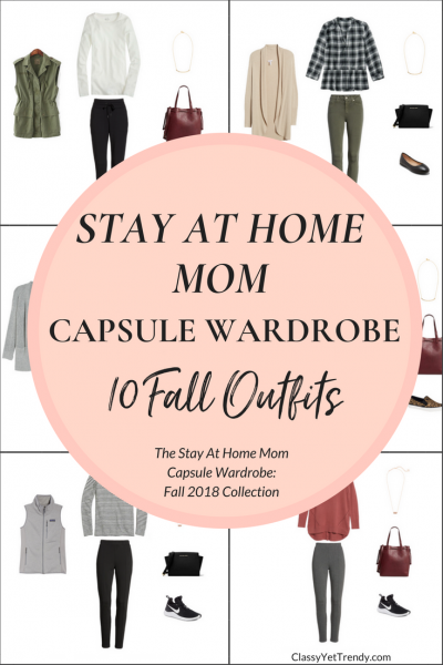 Stay At Home Mom Capsule Wardrobe - 10 Fall 2018 Outfits