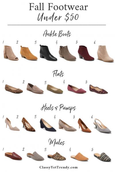 Fall Footwear Under $50