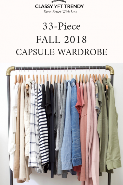 My 33-Piece Fall 2018 Capsule Wardrobe