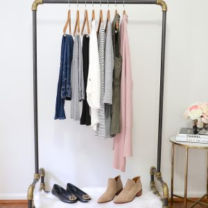 Fall 2018 10x10 Challenge - full clothes rack