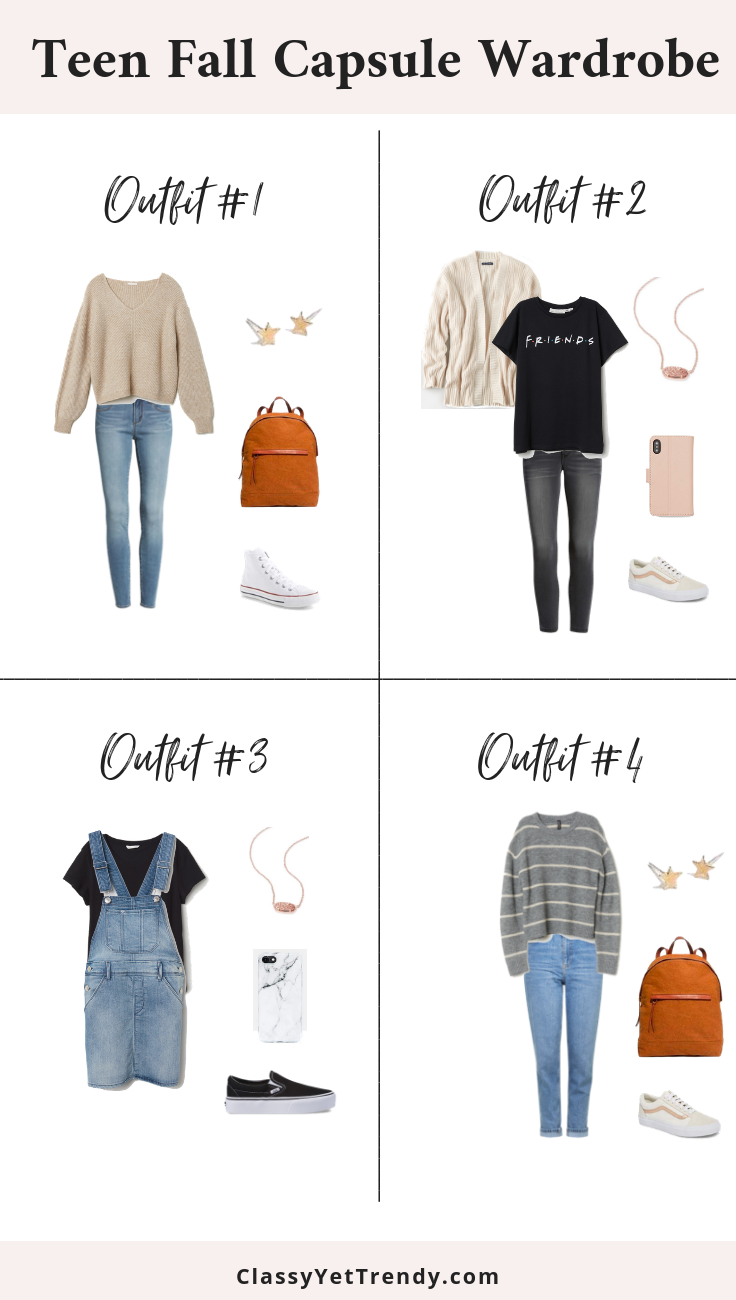 Teen Fall Capsule Wardrobe Outfits