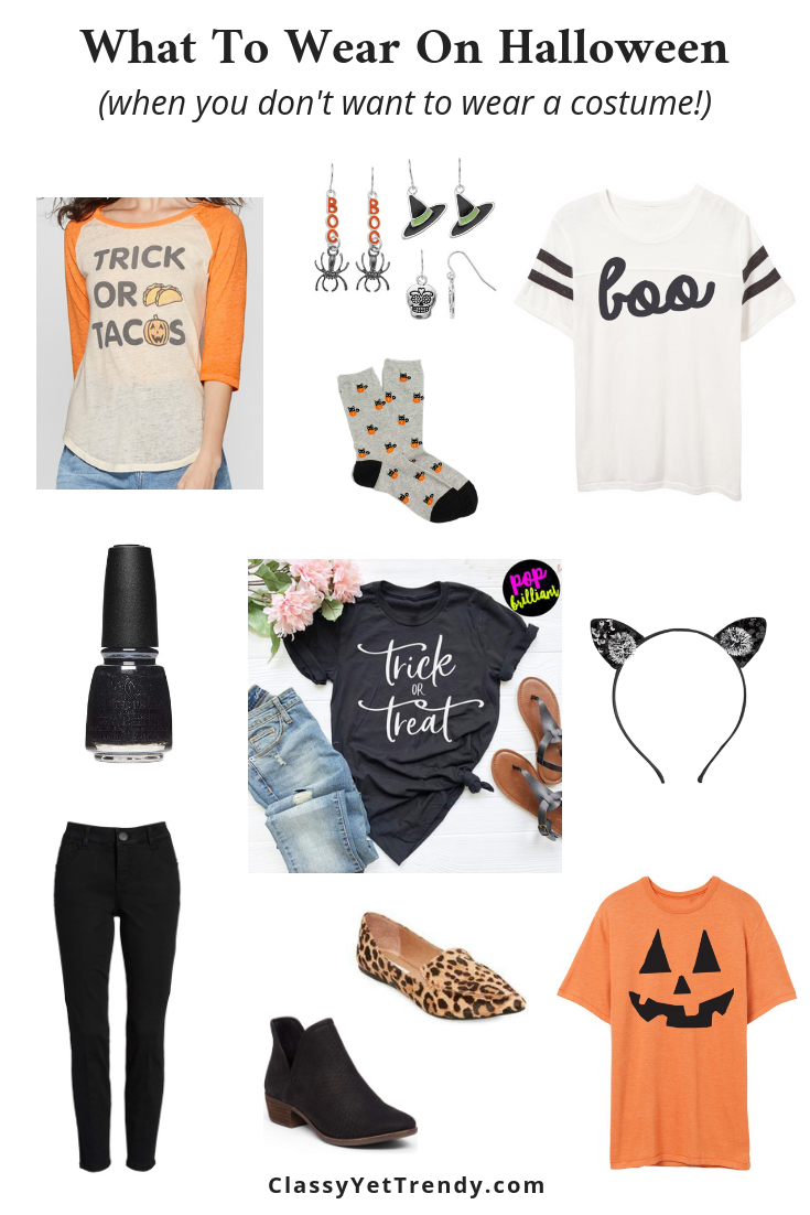 What To Wear On Halloween - when you don't want to wear a costume