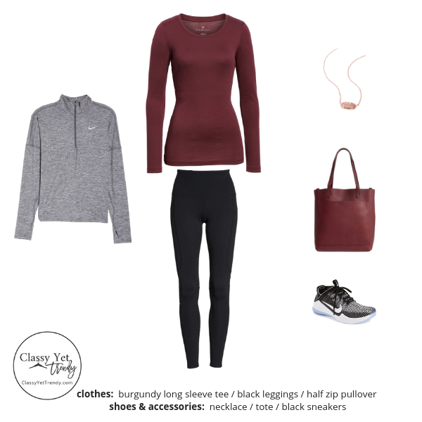 Athleisure Capsule Wardrobe - Winter 2018-2019 - Outfit 31