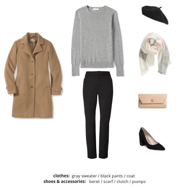 The French Minimalist Capsule Wardrobe Winter 2018-2019 - Outfit 32