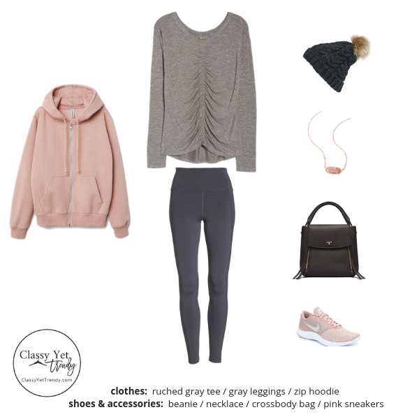 Athleisure Capsule Wardrobe - Winter 2018-2019 - Outfit 48