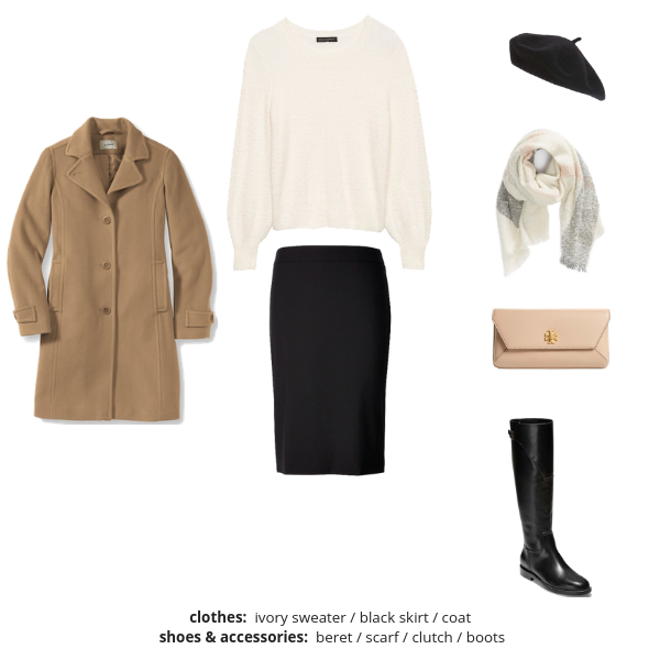The French Minimalist Capsule Wardrobe Winter 2018-2019 - Outfit 81