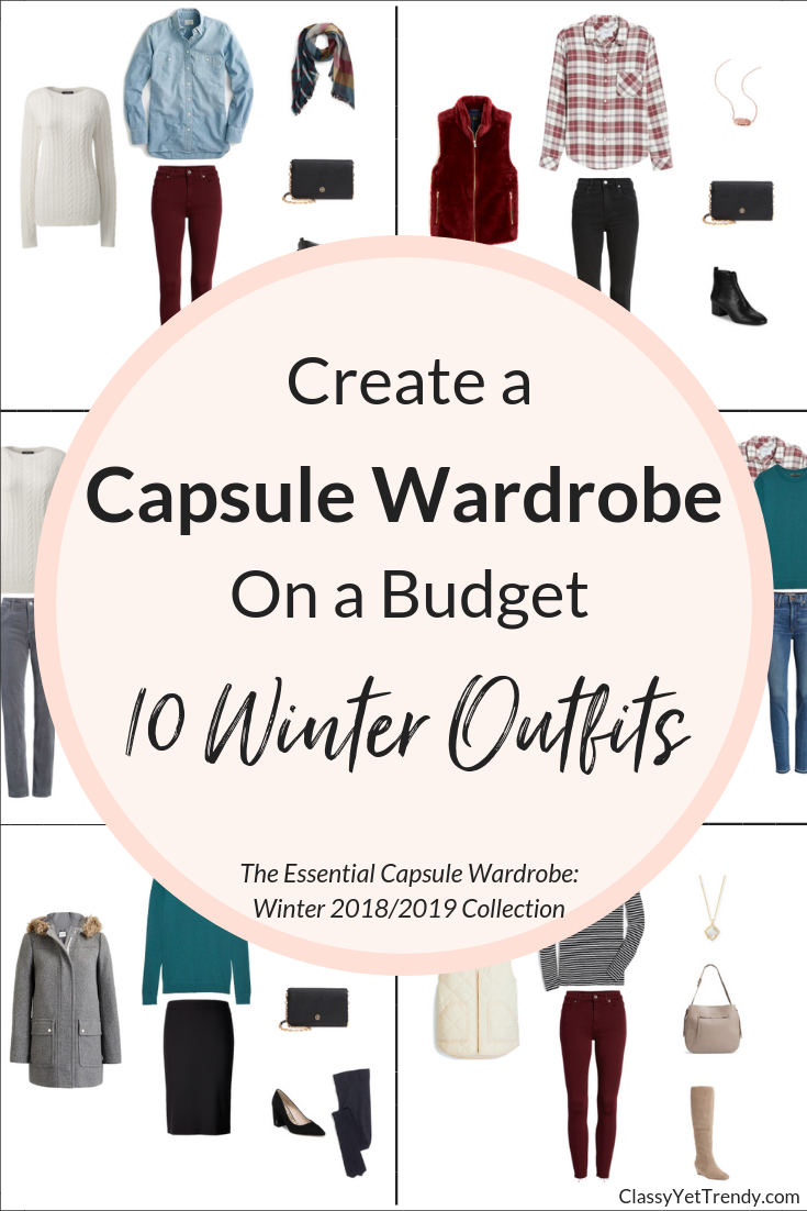 Essential Capsule Wardrobe Winter 2018-2019 - 10 Outfits