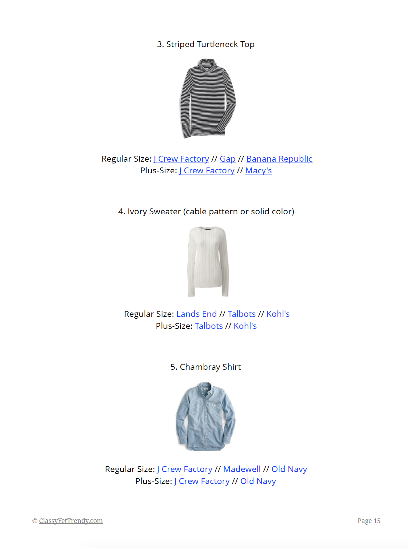 Essential Capsule Wardrobe Winter 2018-2019 - page 15