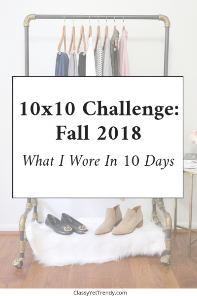 Fall 2018 10x10 Challenge - What I Wore In 10 Days