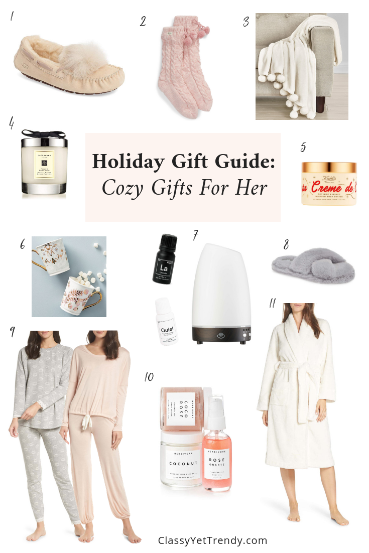 Holiday Gift Guide - Cozy Gifts For Her