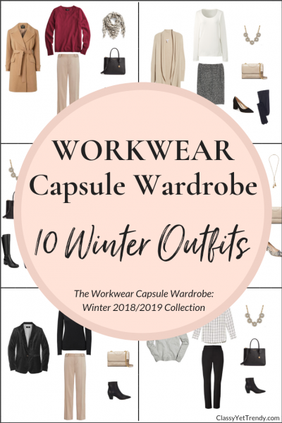 Workwear Capsule Wardrobe Winter 2018-2019 - 10 Outfits