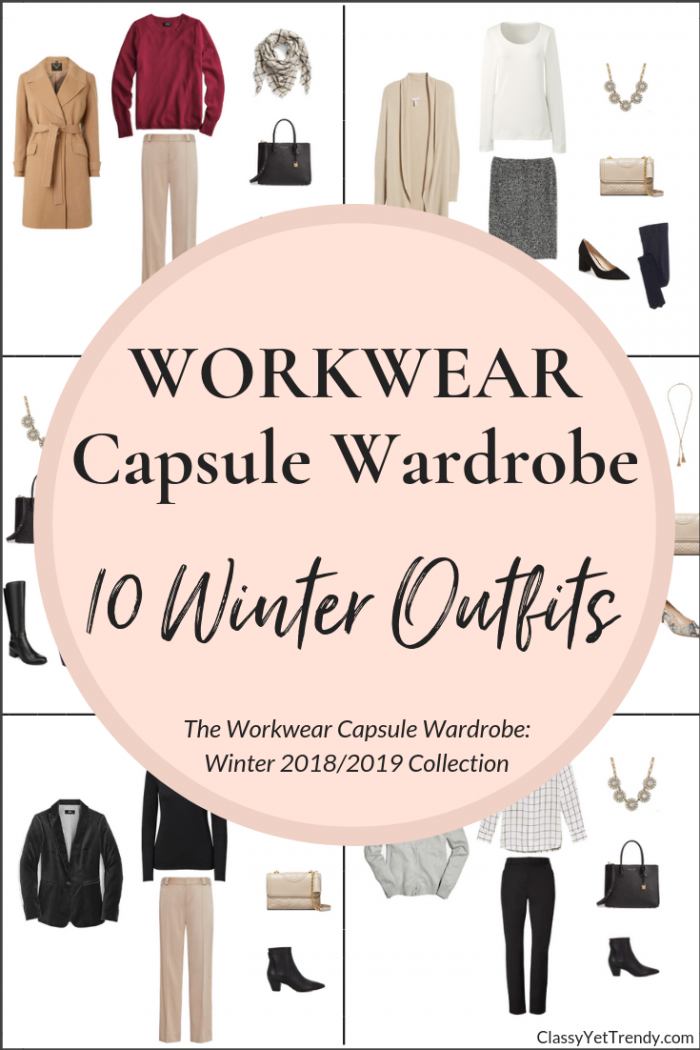 Create a Workwear Winter Capsule Wardrobe On a Budget: 10 Outfits