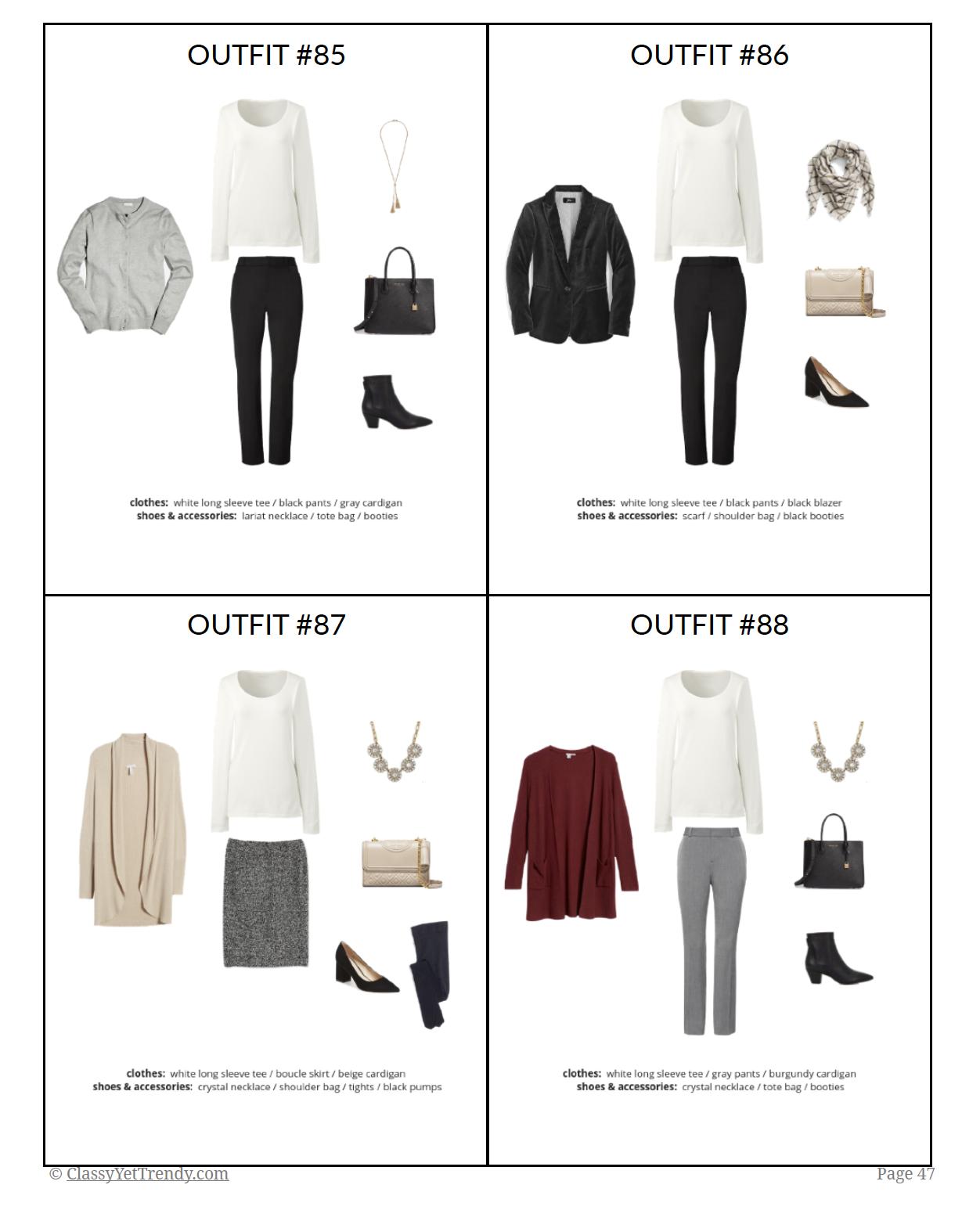 Workwear Winter 2018-2019 capsule wardrobe - page 47