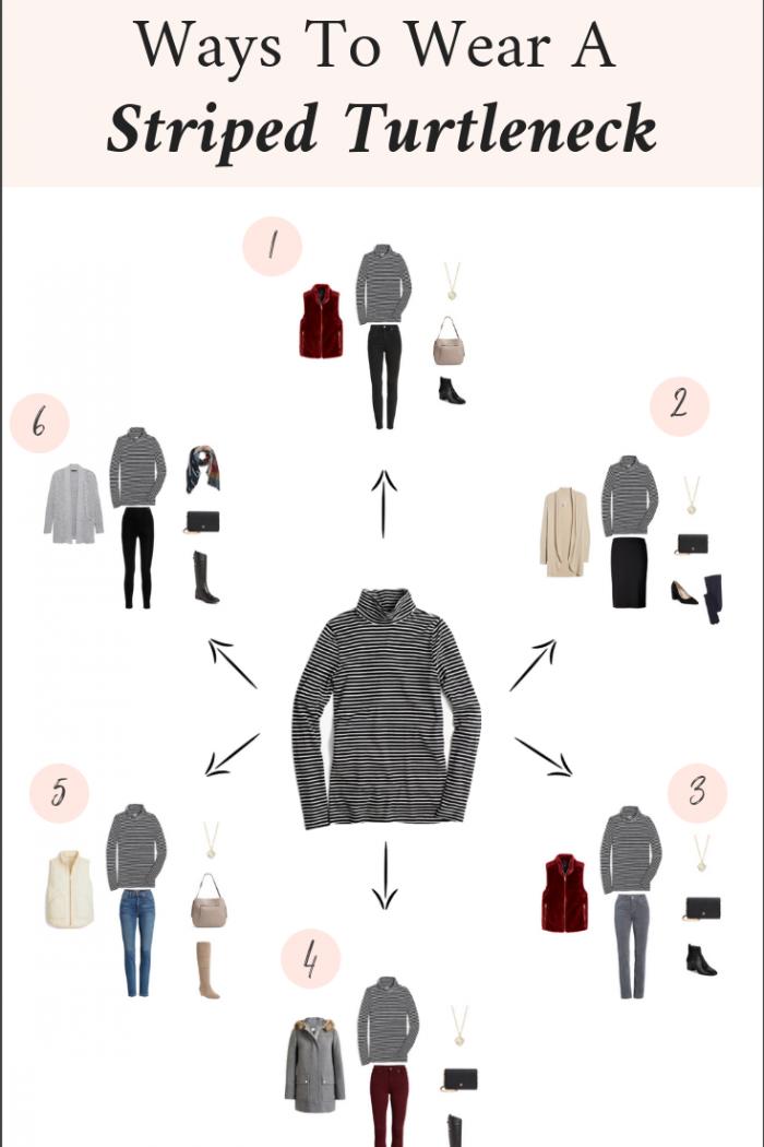 6 Ways To Wear a Striped Turtleneck