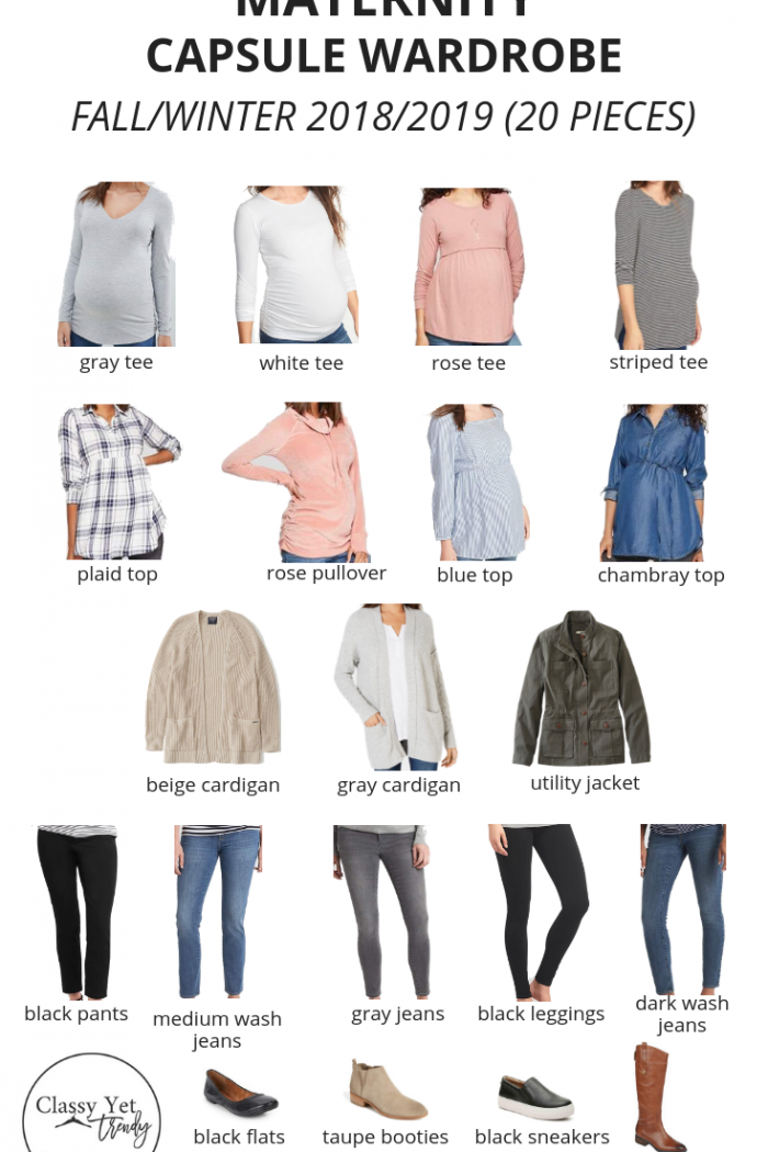 Maternity Capsule Wardrobe: Fall/Winter (20 Pieces) + Outfits!