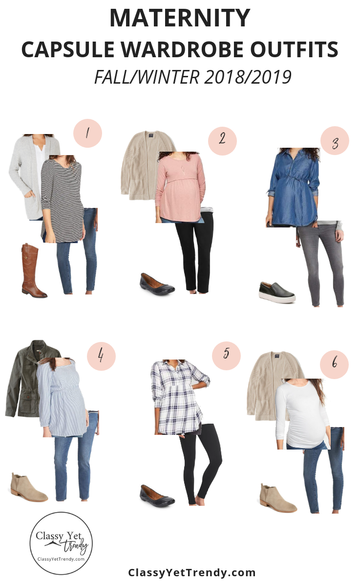 Maternity Capsule Wardrobe - Fall-Winter 2018-2019 - OUTFITS