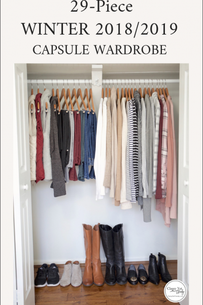 My 29-Piece Winter 2018-2019 Capsule Wardrobe