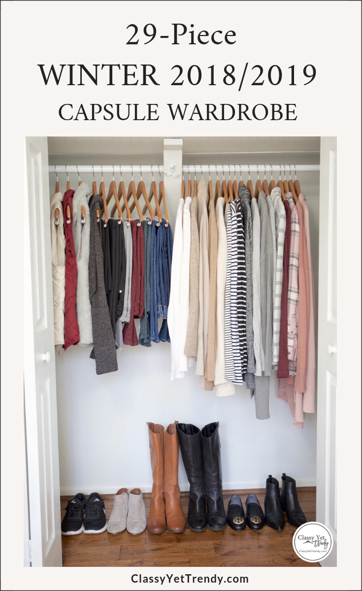 My 29 Piece Winter 2018 2019 Capsule Wardrobe Classy Yet