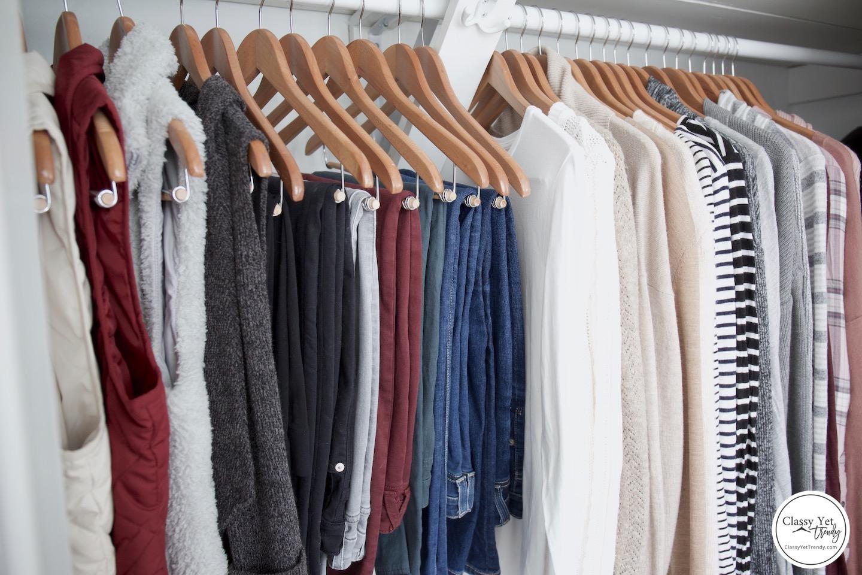 My Winter 2018-2019 Capsule Wardrobe - closet side