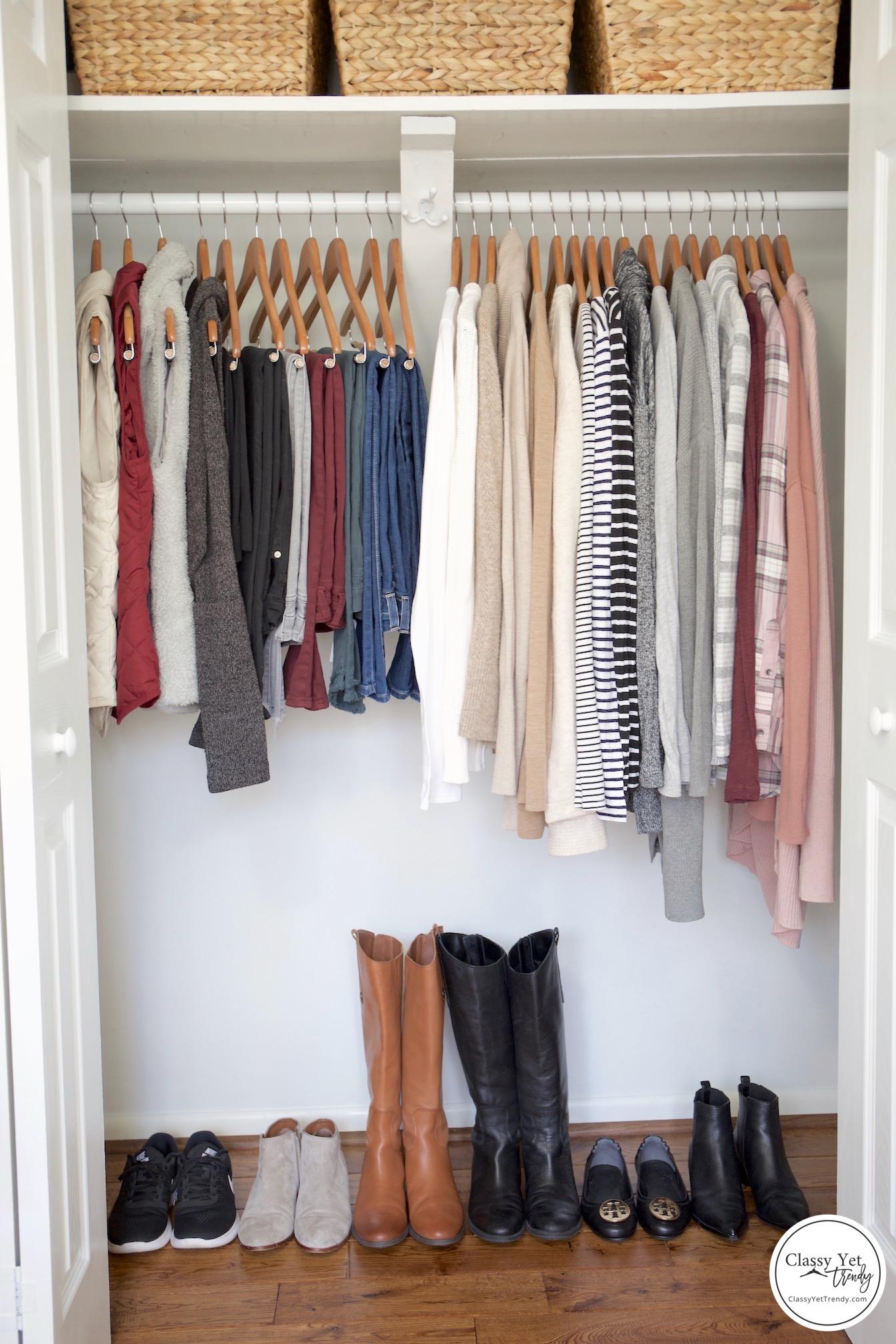 My Winter 2018-2019 Capsule Wardrobe - full closet