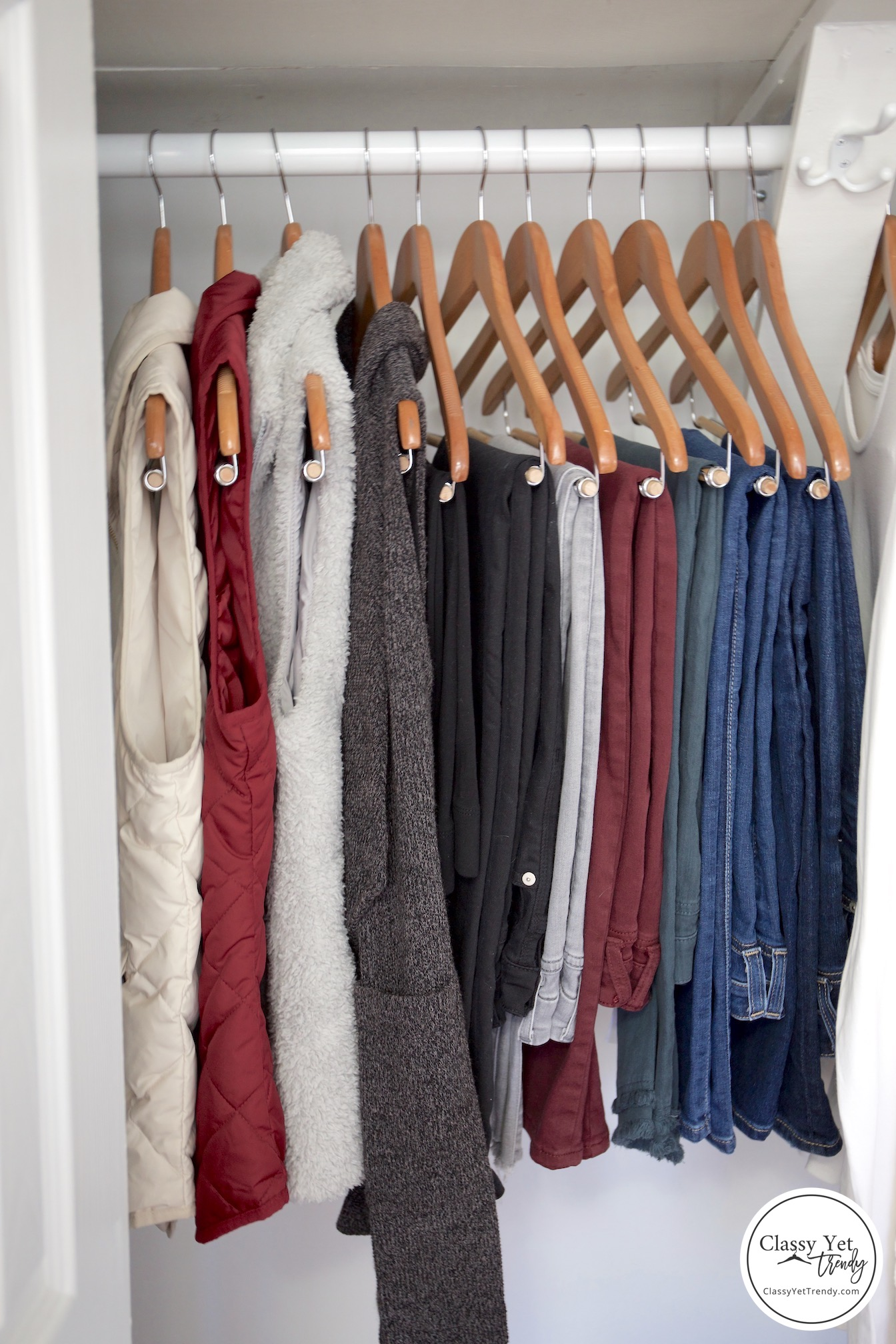 My Winter 2018-2019 Capsule Wardrobe - jeans and vests
