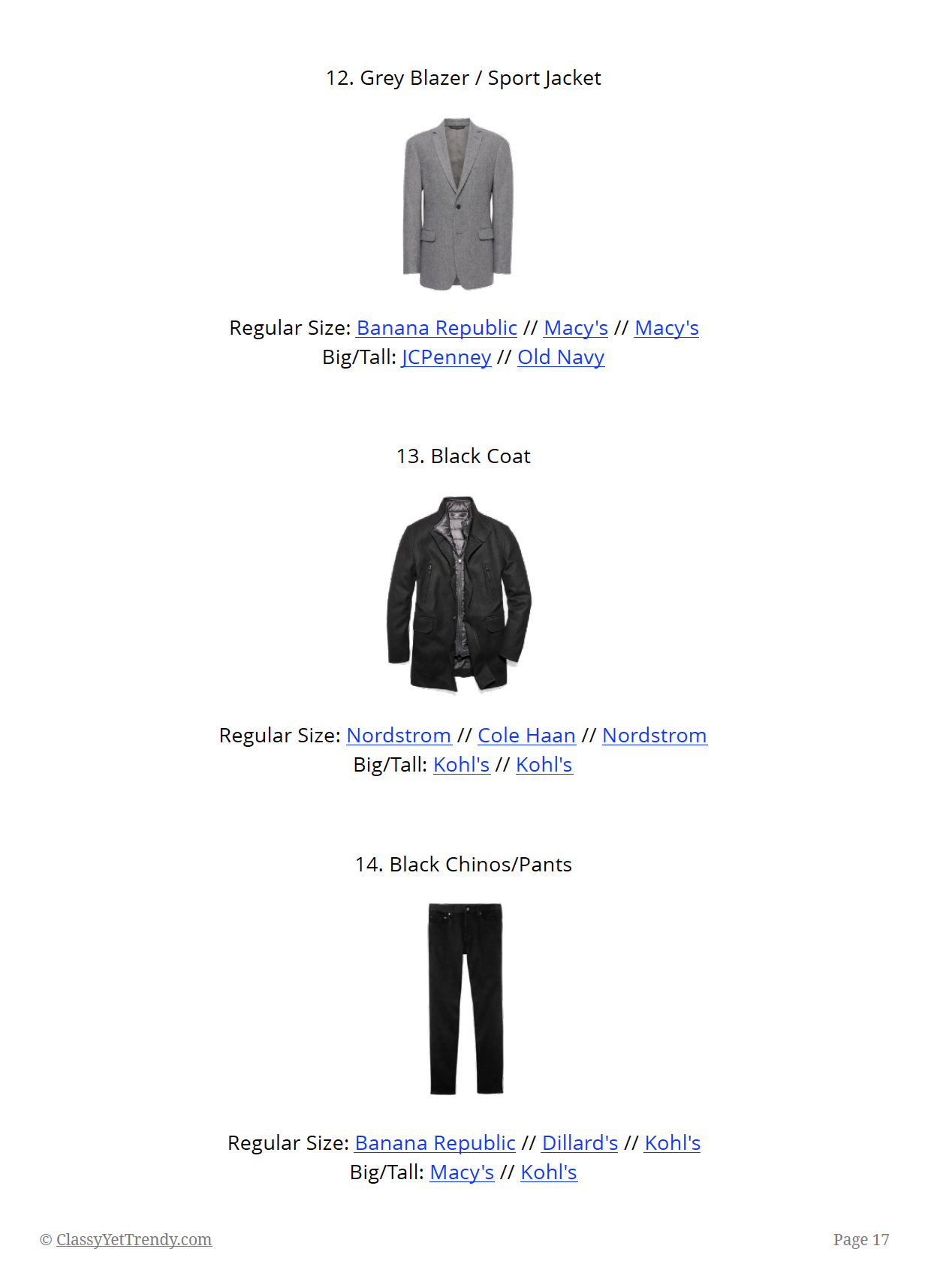 The Menswear Capsule Wardrobe Winter 2018-2019 - page 17