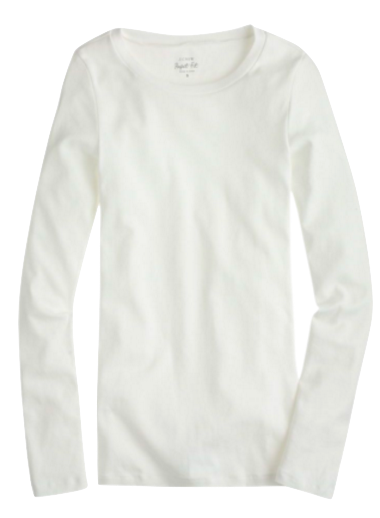 TOP - WHITE LONG SLEEVE TEE